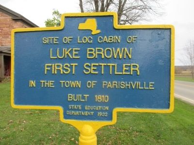 Site of Log Cabin of Luke Brown Marker image. Click for full size.
