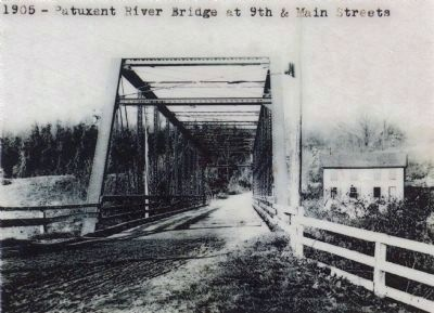 1905 – Patuxent River Bridge at 9th and Main Streets image. Click for full size.