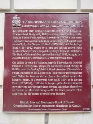 Former Bank of British North America Marker image. Click for full size.