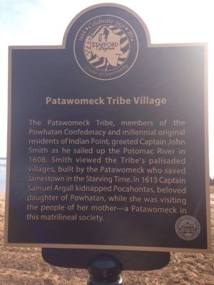 Patawomeck Tribe Village Marker image. Click for full size.