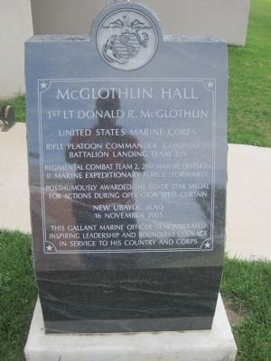 McGlothlin Hall Marker image. Click for full size.