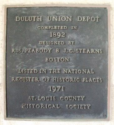 Duluth Union Depot Marker image. Click for full size.