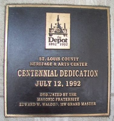 Duluth Union Depot Centennial Marker image. Click for full size.