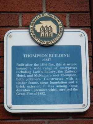 Thompson Building Marker image. Click for full size.