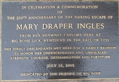 Mary Ingles Marker #2 Marker image. Click for full size.