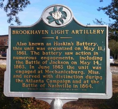 Brookhaven Light Artillery Marker image. Click for full size.