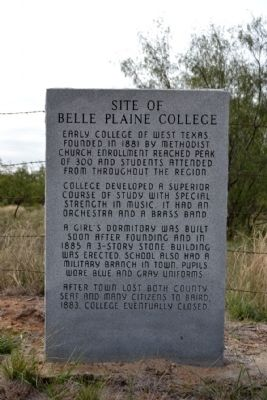 Site of Belle Plaine College Marker image. Click for full size.