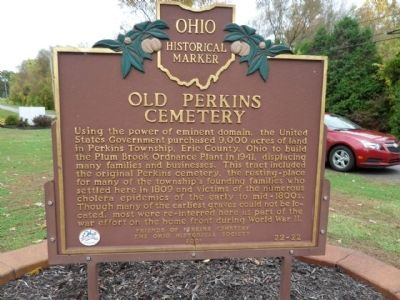 Old Perkins Cemetery Marker image. Click for full size.