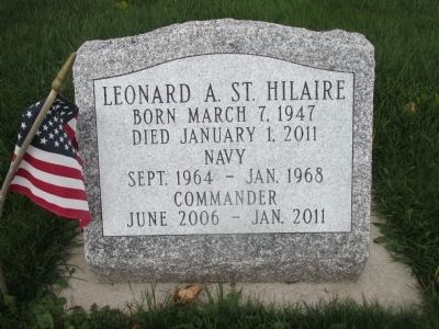 St. Hilaire Headstone image. Click for full size.