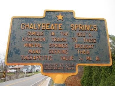 Chalybeate Springs Marker image. Click for full size.
