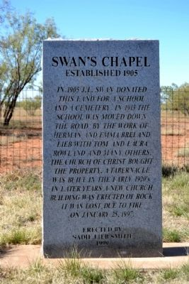 Swan's Chapel Marker image. Click for full size.