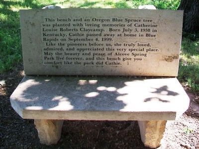 Catherine Claycamp Memorial Bench at Alcove Spring image. Click for full size.