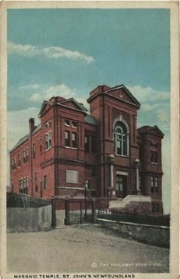 <i>Masonic Temple St. John&#39;s, Newfoundland</i> image. Click for full size.