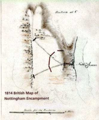 British Map of the Nottingham Encampment image. Click for full size.
