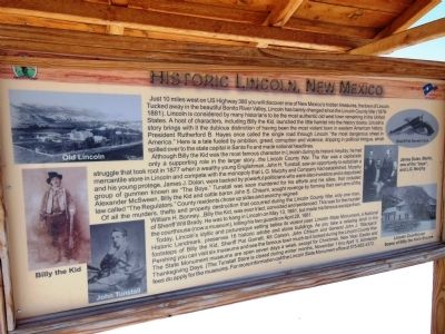 Historic Lincoln, New Mexico Marker image. Click for full size.