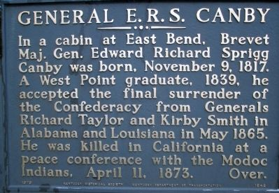 General Canby Marker image. Click for full size.