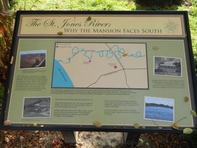 The St. Jones River: Why the Mansion Faces South Marker image. Click for full size.