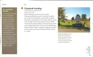 Choptank Landing-Escape from Poplar Neck Marker image. Click for full size.
