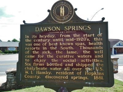 Dawson Springs Marker image. Click for full size.