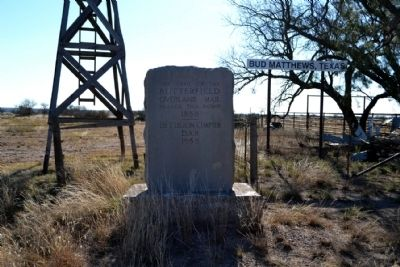 Butterfield Overland Mail Marker image. Click for full size.
