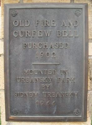 Old Fire and Curfew Bell Marker image. Click for full size.