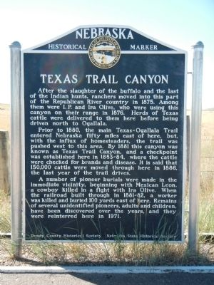Texas Trail Canyon Marker image. Click for full size.