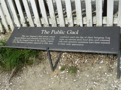 The Public Gaol Marker image. Click for full size.