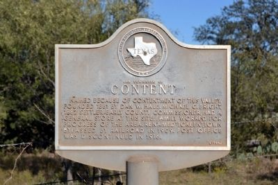Old Townsite of Content Marker image. Click for full size.