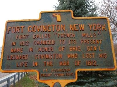 Fort Covington, New York Marker image. Click for full size.