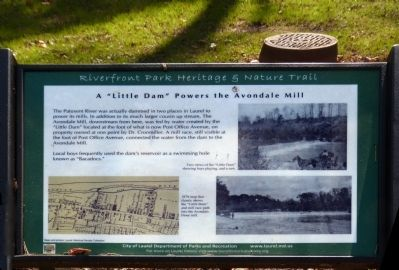"A ""Little Dam"" Powers the Avondale Mill Marker image. Click for full size."