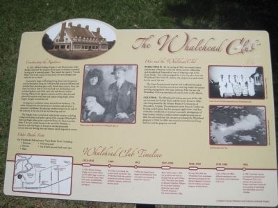 The Whalehead Club Marker image. Click for full size.