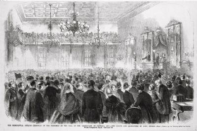 <i>The Presidential Journey - reception of the President in the hall of the Legislature�</i> image. Click for full size.