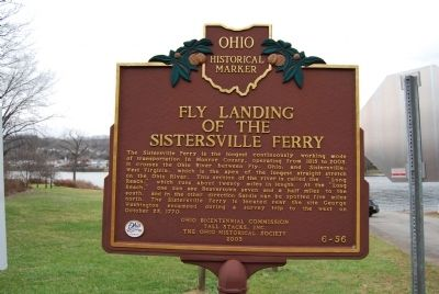 Fly Landing of the Sistersville Ferry Marker image. Click for full size.