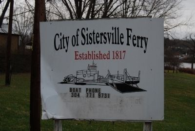 City of Sistersville Ferry Sign image. Click for full size.