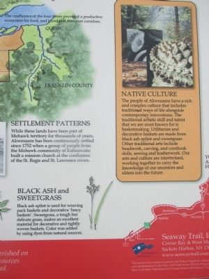 Right Detail - Akwesasne Marker image. Click for full size.