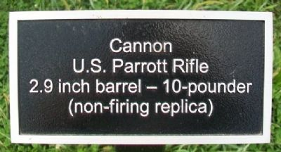 10-pound Parrott Rifle (cannon) sign image. Click for full size.