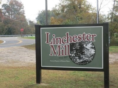 Linchester Mill-circa 1827-National Register of Historic Places image. Click for full size.