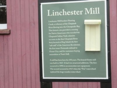 Linchester Mill Marker image. Click for full size.