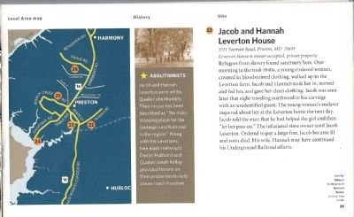 Driving Tour Guide-Leverton House-Finding Safe Haven Marker image. Click for full size.