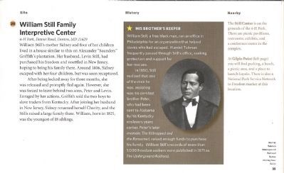 Driving Tour Guide-William Still Center-Families Divided & United Marker image. Click for full size.