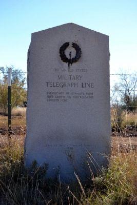 Military Telegraph Line Marker image. Click for full size.
