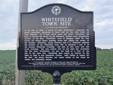 Whitefield Town Site Marker image. Click for full size.