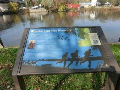 Moses and the Hounds Marker image. Click for full size.