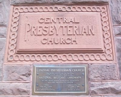 Central Presbyterian Church NRHP Marker image. Click for full size.