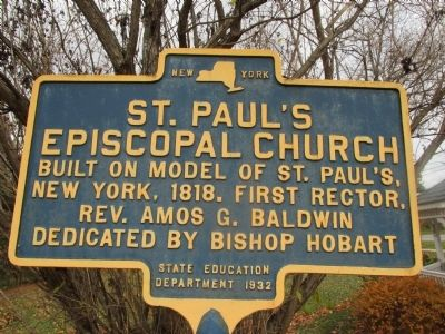 St. Paul's Episcopal Church Marker image. Click for full size.