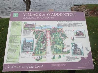 Village of Waddington Marker - Waterfront image. Click for full size.