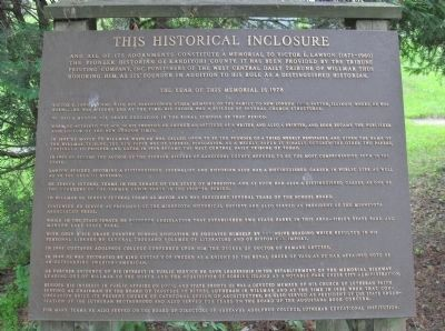 This Historical Inclosure Marker image. Click for full size.