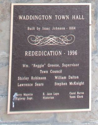 Waddington Town Hall Marker image. Click for full size.