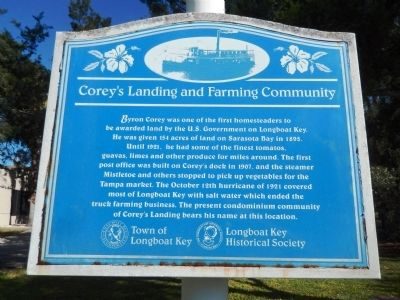 Corey's Landing and Farming Community Marker image. Click for full size.
