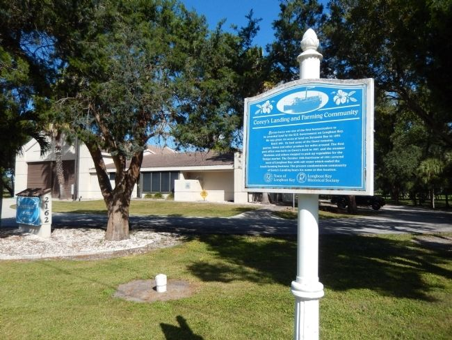 Corey&#39;s Landing and Farming Community Marker (<i>wide view</i>) image. Click for full size.